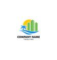 beach resort and summer theme logo design template vector image