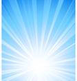 Blue summer sun light burst vector image vector image