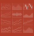 business chart collection set of graphs data vector image vector image