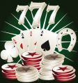 casino poker elements vector image vector image