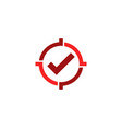 check target logo icon design vector image