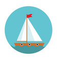 children s cute ship simple icon vector image