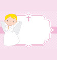 christening or communion card vector image vector image
