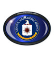 cia flag oval vector image vector image