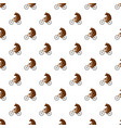 circus bear pattern vector image vector image