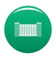 city fence icon green vector image vector image
