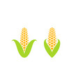 corn icon set vector image vector image