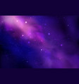 cosmos background with realistic stardust nebula vector image