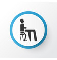 dinner icon symbol premium quality isolated lunch vector image vector image