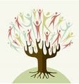 Family tree concept vector image vector image