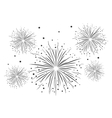 Fireworks Black and White vector image vector image