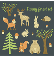 forest set vector image