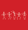 funny skeleton symbol halloween cartoon vector image vector image