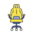 gaming armchair color icon vector image