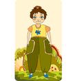 girl little meadow vector image vector image