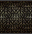 golden seamless background with chinese waves art vector image vector image
