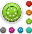 Green Earth award vector image vector image