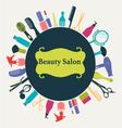 Hair Beauty salon background vector image