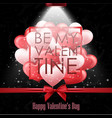 happy valentines day with black background vector image
