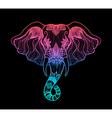 head a elephant line art boho design indian vector image vector image