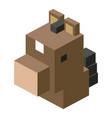head horse modular animal plastic lego toy blocks vector image