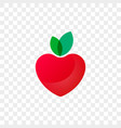 heart logo apple fruit icon vector image