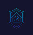 house insurance linear icon vector image