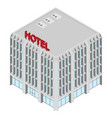 isometric hotel icon vector image vector image
