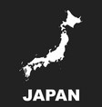 japan map icon flat japan sign symbol on black vector image