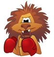 Lion boxer vector image vector image