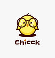 logo chicken simple mascot style vector image