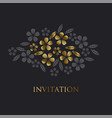 luxury gold style tropical leave and flower vector image vector image