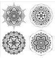 Mandala set vector image
