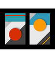 material design set abstract paper shapes vector image vector image