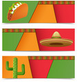 Mexican Banners Horizontal vector image vector image