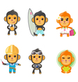 Monkey activity set vector | Price: 5 Credits (USD $5)