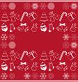 pattern with christmas elements and vector image vector image