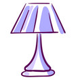 purple lamp on white background vector image vector image