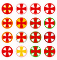red pharmacy cross set vector image