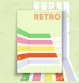 retro design poster with vintage grunge texture vector image vector image
