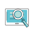 screen technology with information and magnifying vector image