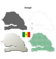 Senegal outline map set vector image vector image