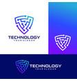 shield technology logo icon stock vector image