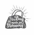 shopping bag graphic design concept vector image vector image