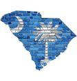 South Carolina map on a brick wall vector image vector image