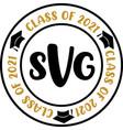 stamps svg graduation class 2021 academic cap vector image vector image