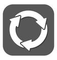 The waste processing icon Bio symbol Flat vector image vector image