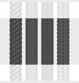 tire tracks set one vector image vector image