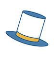 top hat icon vector image vector image