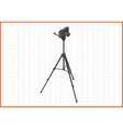 tripod isometric flat 3d vector image vector image
